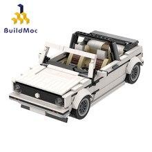 BuildMoc – Mini voiturette de Golf, créateur technique, blocs de construction, de sport, vert, gris, blanc, noir, à monter soi-même, Super voiture de course, jouets pour enfants, cadeau