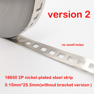 Image 3 - 1kg 2 p 18650 리튬 배터리 니켈 도금 스틸 스트립 spcc 니켈 시트 벨트 테이프 0.15mm 배터리 팩 커넥터 2 병렬