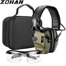 ZOHAN Tactical headphones Ear Protection Shooting Electronic Earmuffs soundproof Hearing Noise Reduction for Hunting NRR22db
