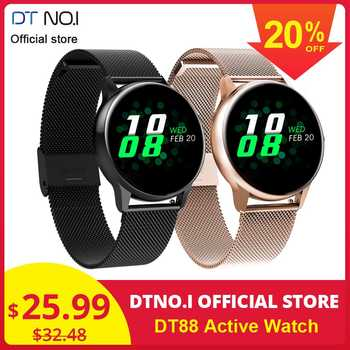 DT NO.1 DT88 Smart Watch Round Touch Screen Smartwatch Heart Rate Intelligent Fitness Tracker Sports Fashion Watch Men Women - DISCOUNT ITEM  22% OFF All Category