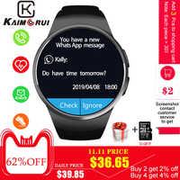 Montre intelligente hommes KW18 Bluetooth montres intelligentes podomètre de fréquence cardiaque SIM Smartwatch réponse appel TF téléphone montre pour Android IOS