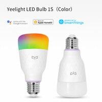 YEELIGHT-bombilla inteligente 1S, lámpara led E27 RGB, luces de bulbo LED para el hogar, 800 lúmenes, 8W, control por aplicación WIFI