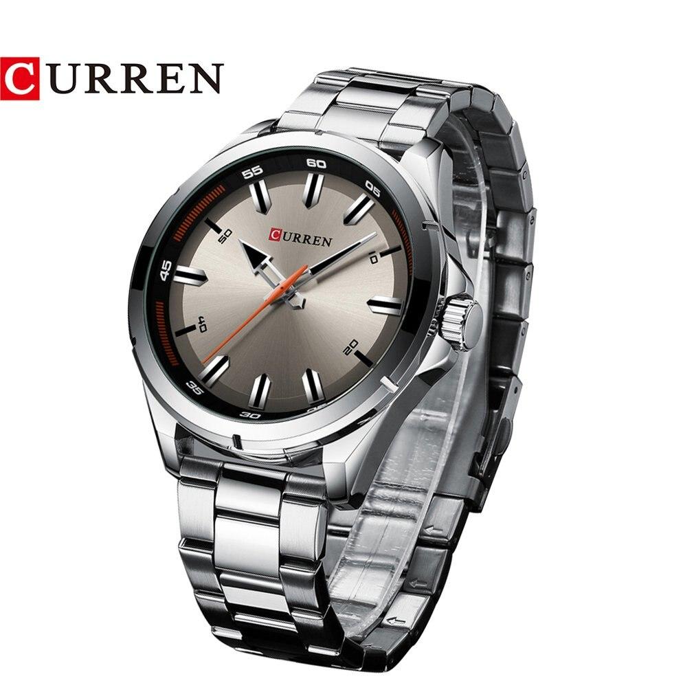 Carrian 8320 Steel Belt Men'S Watch Large Dial Quartz Men'S Watch Fashion Simple Business Waterproof Watch
