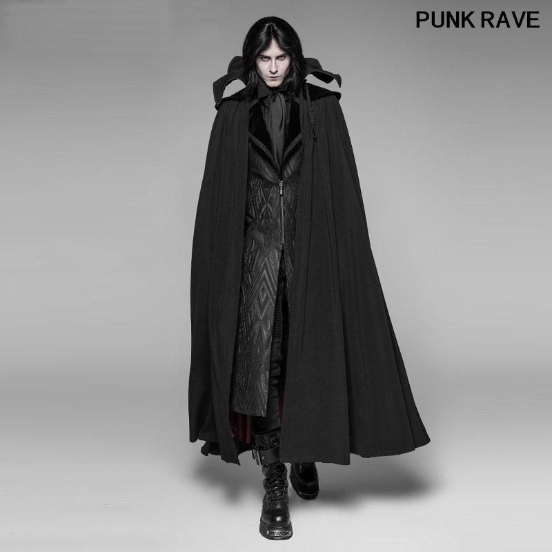 Gothic Palace noble Party Cosplay Winter Men Coat Classic Vampire Count Nightcrawler Turtleneck Long Cloak PUNK RAVE WY-913DPM