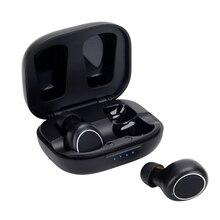 MT01 TWS Bluetooth 5.0 이어폰 충전 박스가있는 스테레오 무선 이어 버드 MEMS 소음 차단 게임용 헤드셋 스포츠 방수