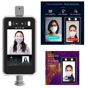 Rozpoznawanie twarzy Thermo korpus aparatu czujnik temperatury kontroli dostępu nie-skontaktuj się z gorączka kamera termowizyjna kamera termowizyjna z Alarm głosowy