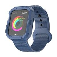Protector przypadek i pasek do zegarka 40mm jabłko zespół 44mm iWatch Apple Obserwować pulseira 5/4 Anti-spaść silikonowe pokrywę ochronną i taśmę