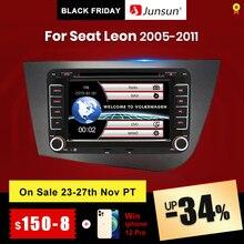 "Junsun 7"" car radio 2 din radio car car DVD  For Seat Leon 2 2005 2006 2007 2008 2009 2010 2011 GPS Navigation car audio  stereo"