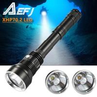 Linterna de submarinismo XHP70.2 de 7000 LM, profesional, de buceo, resistente al agua, 150M, para buceo al aire libre, LED, amarilla/blanca, nueva