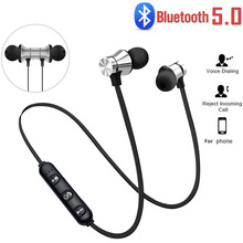 2020 new sports magnet stereo bluetooth headset, microphone wireless fashion suitable for Android IOS