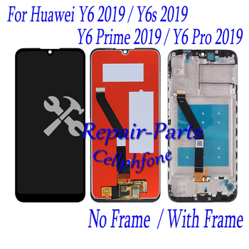 6.09 inch Black New For Huawei Y6 2019 / Y6 Prime 2019 / Y6 Pro 2019 / Full LCD display + Touch Screen Digitizer Assembly image