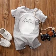 Macacão infantil de manga curta, fantasia estampada com animais para recém-nascidos, macacão, pijama babygrow, verão, 2020