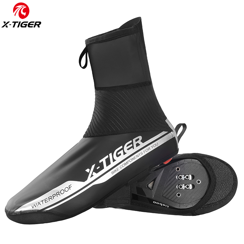 Bicycle Shoes Covers Windproof Warm Cycling Bike Winter Sports Overshoes Black