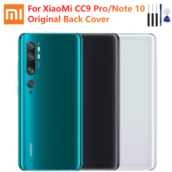 Original Glass Battery Rear Case For Xiaomi Mi Note 10 Note10 CC9 Pro Phone Battery Backshell Back Cover Cases