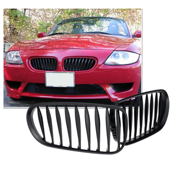 Matte Black Car Front Kidney Grille Sporty Style Grill for BMW Z4 E85 2003-2008 image