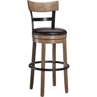 Вращающийся барный стул твердая древесина назада барный стул высокий стул кожанный поворотный барный стул домашный барный w Krzesła barowe od Meble na
