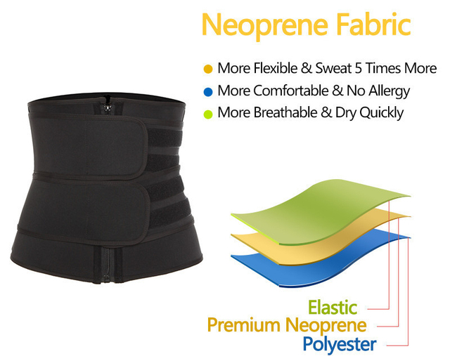 Neoprene Sauna Waist Trainer Girdle Body Shaper Corset Sweat Slimming Belt For Women Weight Loss Compression Trimmer Fitness 5XL 1