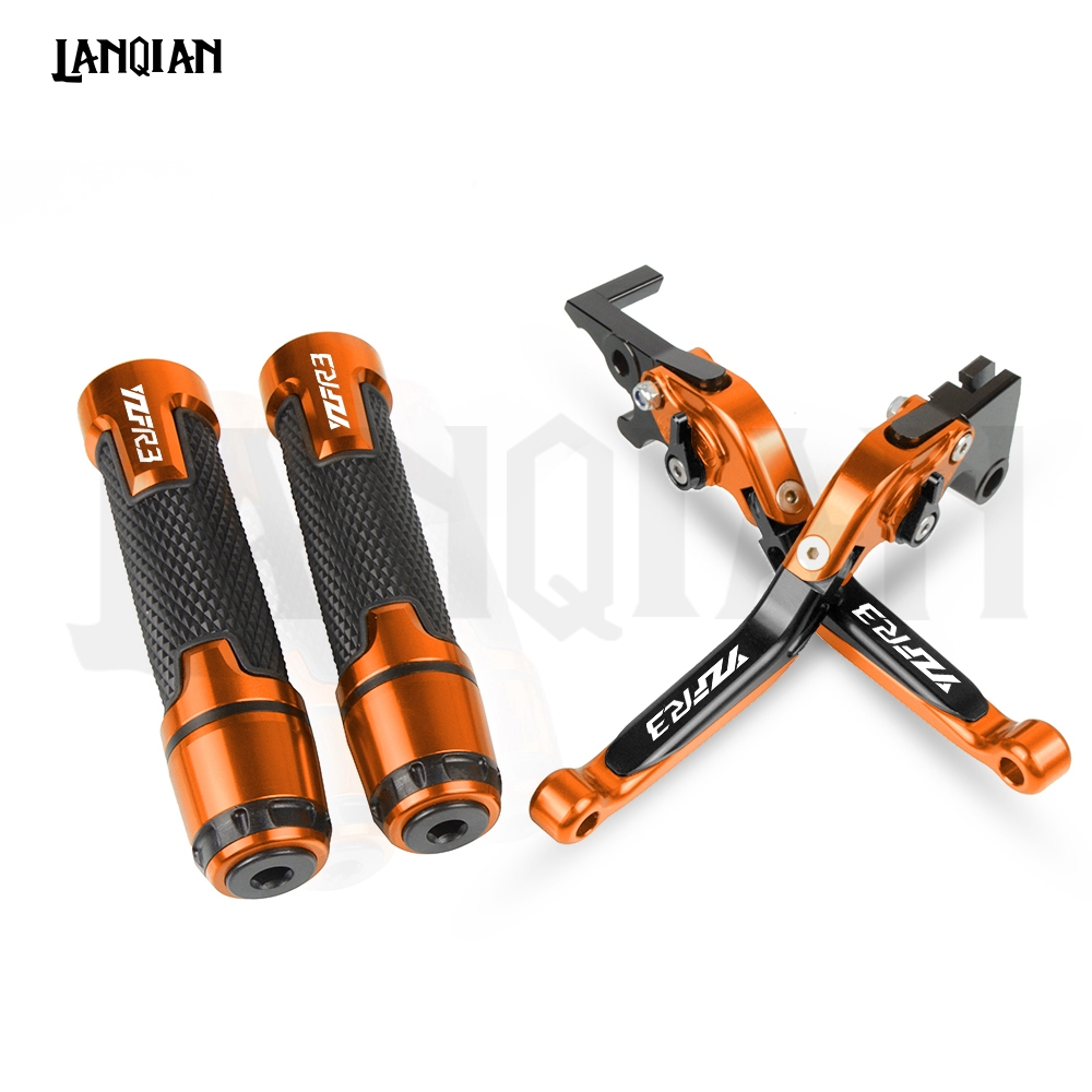 For Yamaha YZF R3 YZF R3 Motorcycle CNC Brake Clutch Lever 7 8 22MM Handlebar Grips YZFR3 2015 2016 2017 2018 2019 Accessories in Levers Ropes Cables from Automobiles Motorcycles