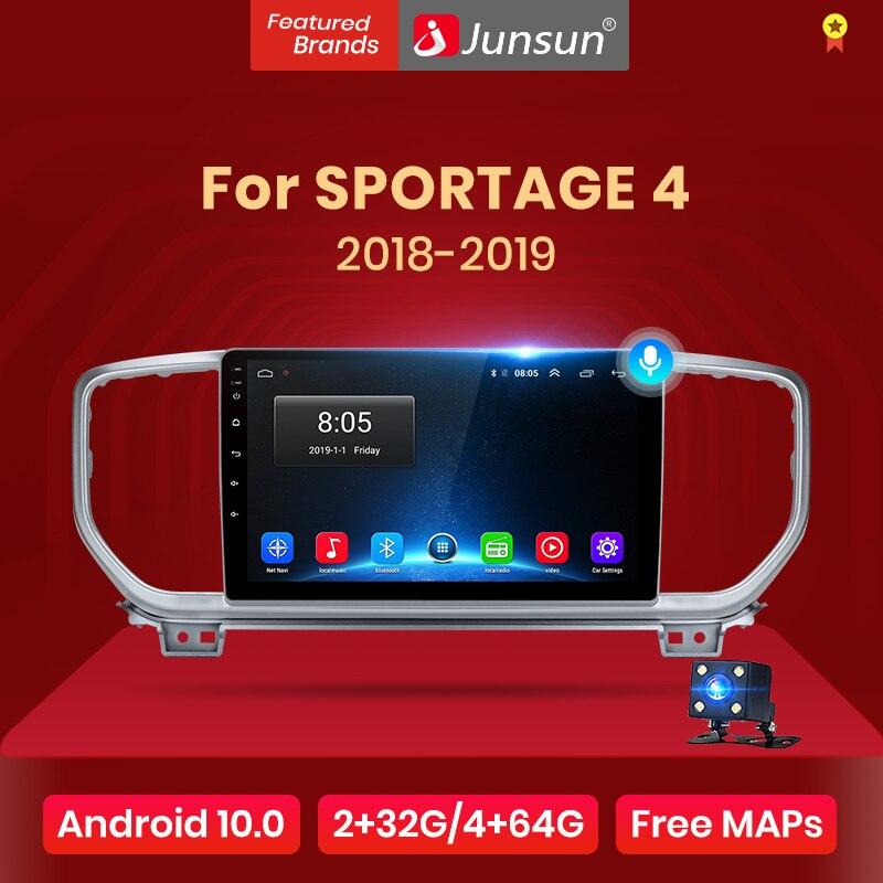 Junsun V1 Android 10,0 AI Control de voz 4G Carplay DSP auto Radio Multimedia navegador GPS para KIA Sportage 4 2018 4 2019 2Din dvd