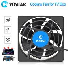안드로이드 TV 박스 셋톱 박스 용 VONTAR C1 냉각 팬 무선 조용한 쿨러 DC 5V USB 전원 라디에이터 미니 팬 80x80x25mm