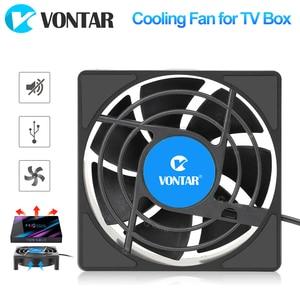 Image 1 - VONTAR C1 Lüfter für Android TV Box Set Top Box Drahtlose Silent Ruhig Kühler DC 5V USB Power heizkörper Mini Fan 80x80x25mm