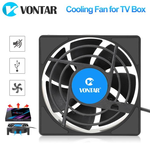 VONTAR C1 Lüfter für Android TV Box Set Top Box Drahtlose Silent Ruhig Kühler DC 5V USB Power heizkörper Mini Fan 80x80x25mm
