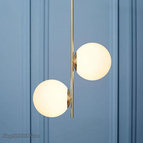 moderno pingente de luz bola vidro led pendurado lampadas nordic sala estar quarto pingente cozinha
