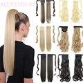 MERISIHAIR длинные прямые накладные волосы на клипсе для наращивания конского хвоста термостойкие синтетические накладные волосы с конским хво...