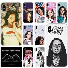 De Lujo suave Del teléfono de silicona caso de Lana Del Rey para Apple iPhone 11 Pro XS Max X XR 6S 6 7 8 Plus 5 5S SE de la cubierta a la moda de la