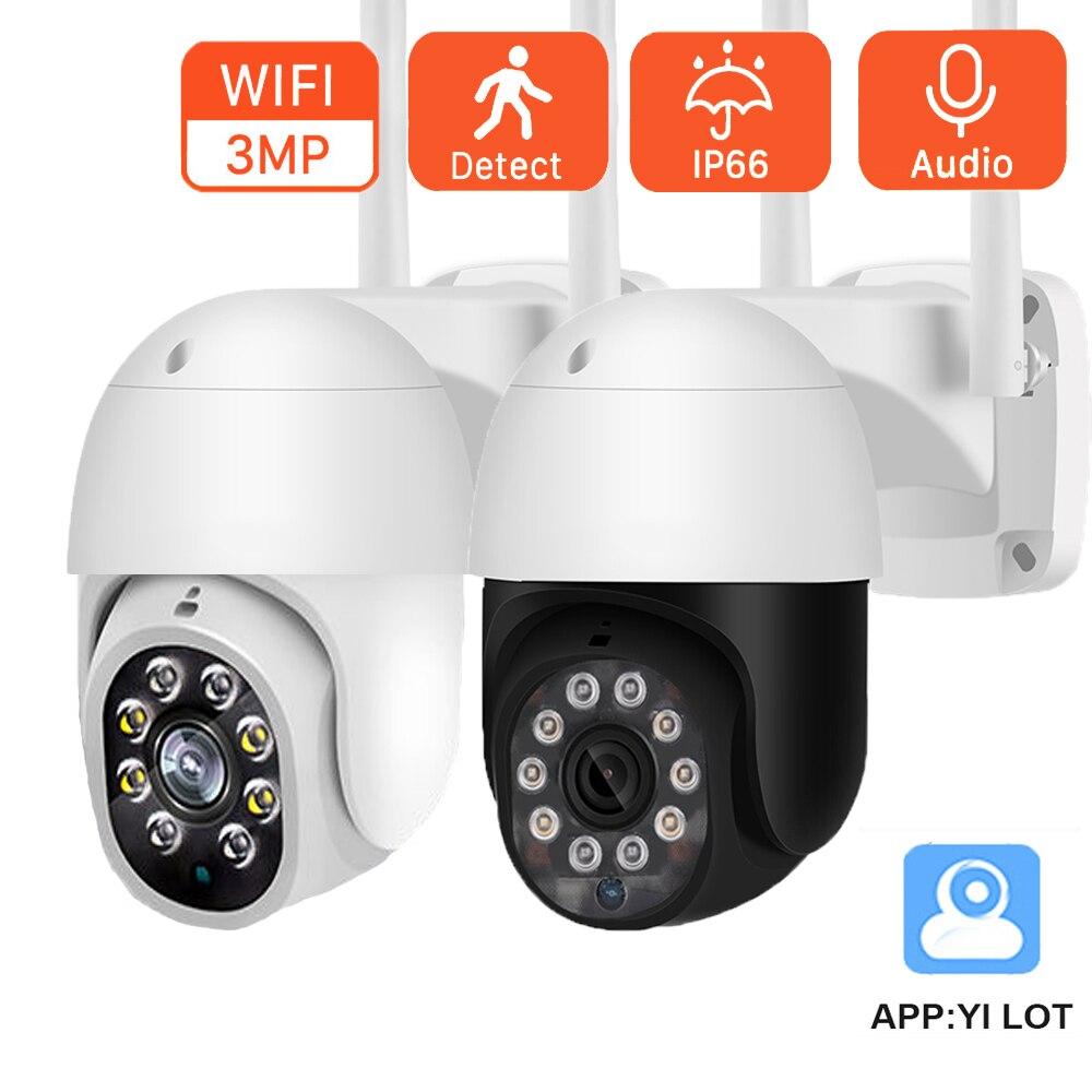 3-мегапиксельная HD IP-камера с автослежением, с обнаружением человекоида, ИК ночным видением, наружная Wi-Fi камера наблюдения с двухсторонним ...