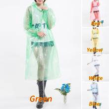 2020 Disposable Raincoat Adult Emergency Waterproof Rain Hood Poncho Travel Camping Blouse Hiking Unisex Rainwear Top 1Pc(China)