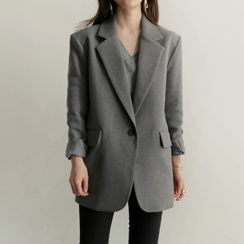 Ladies 2020 New Black Blazer Feminino Plus Size 2XL Formal Jacket Women's Gary Blaser Female Suit Office Outwear LX1362