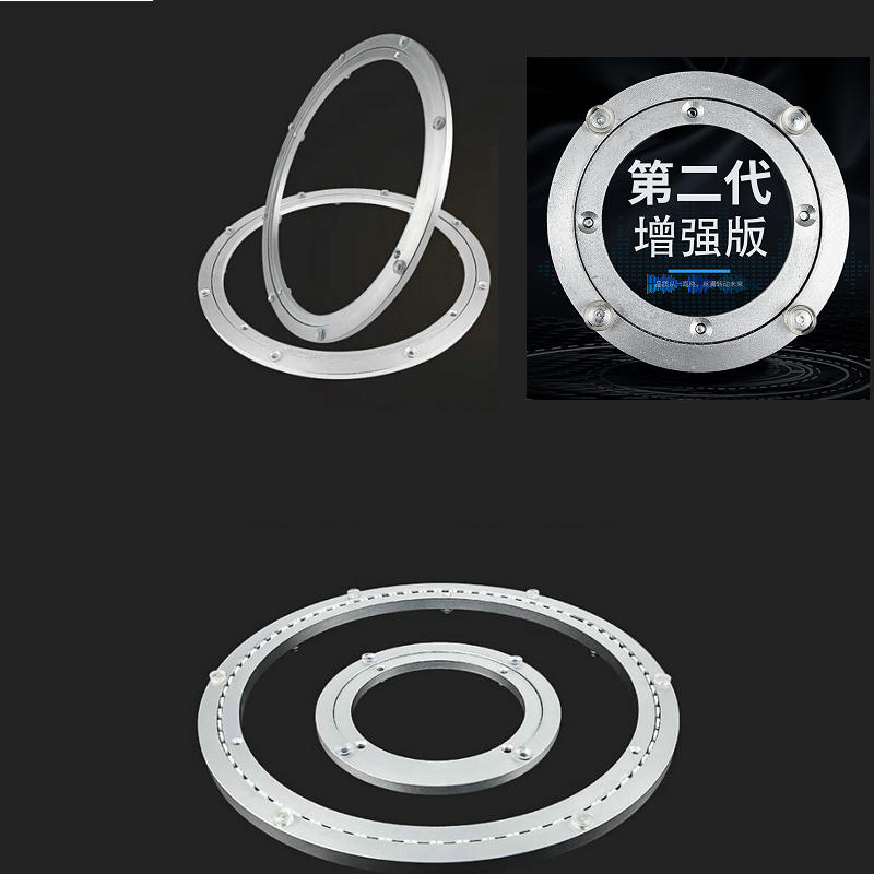 HQ LS01 Aluminium Alloy Swivel Plate For Kitchen Furniture Lazy Susan Turntable Bearing Dining Table Swivel Plate Turnplate