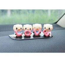 4pcs/set newest car ornaments Cute LOVE Little Pig interior