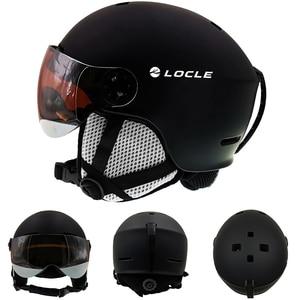 Image 2 - LOCLE лыжный шлем сверхлегкий PC + EPS CE EN1077 мужской женский мужской лыжный шлем для спорта на открытом воздухе сноуборд/скейтборд шлем