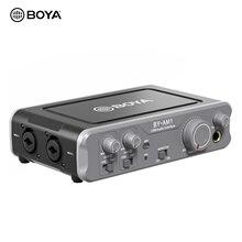 BOYA Dual-Kanal Audio Mixer Usb-schnittstelle mit 6,35mm/XLR Eingänge 6,35mm Kopfhörer & Linie Ausgänge aufnahme Live-Streaming