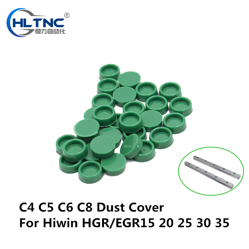 100pcs HIWIN Linear Motion Rail Guide Dust Cover C4 C5 C6 C8 Plastic Green Caps Protector HGR15 HGR20 HGR25 HGR30 HGR35 EGR15