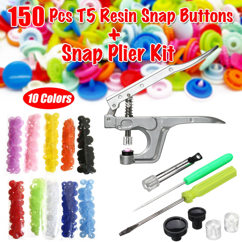 1 Set Snap Plier Snap Resin Button Fastener Poppers DIY Clothing Kit Useful Tool YH-17