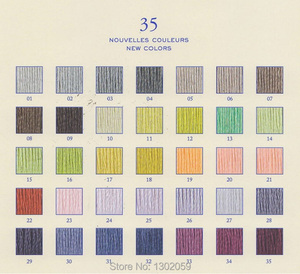Image 4 - 447 pezzi DMC Filo da Ricamo Filo Fili e cotoni per ricamo + 100 Pezzi Di Ago
