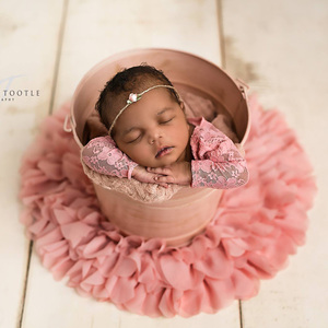 Лидер продаж! Мягкое шифоновое круглое цветочное одеяло для фотосъемки новорожденных, диаметр = 50 см, 2 шт./лот