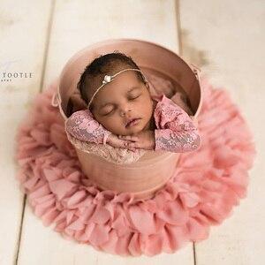 ¡Caliente! Diámetro = 50cm 2 unidades/lote, manta de gasa suave redonda para fotografía de flores para recién nacidos, accesorios de fotografía y regalo para BABY SHOWER