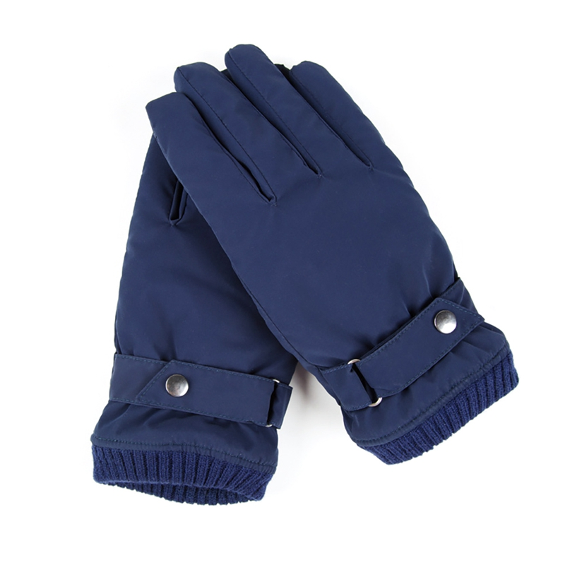Men's Windproof Outdoor Sport Gloves Winter Warm Mittens Coral Velvet Lining Ski Gloves Winter Snow Gloves Male