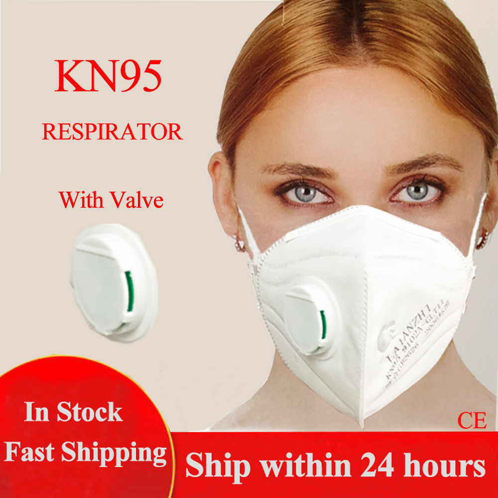 30PCS KN95 Face Mask With Valve Dust Respirator KN95 Mouth Mask Adaptable Against Pollution Breathable KN95 Mask Filter Maske