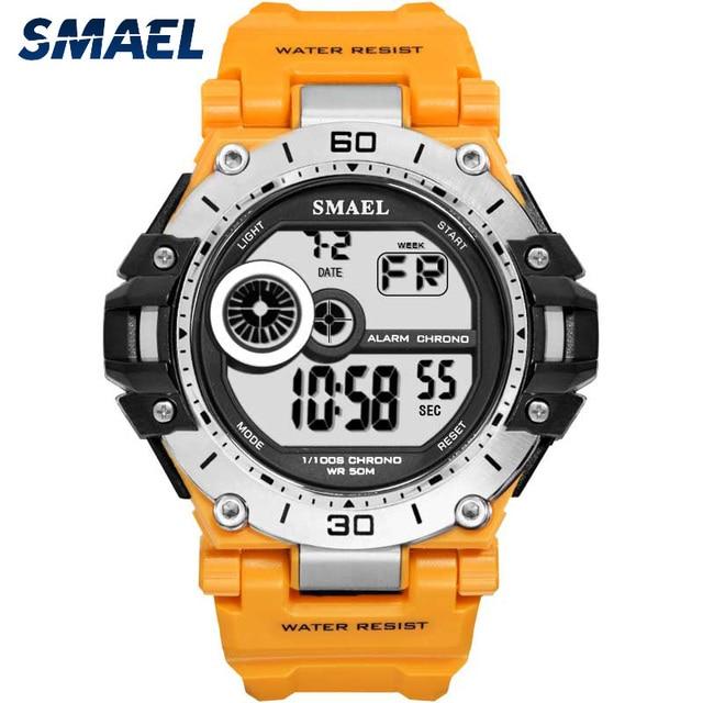 SMAELนาฬิกาแฟชั่นผู้ชายกีฬานาฬิกากันน้ำ5Bar ChronographนาฬิกาAnalogนาฬิกาปลุกนาฬิกาข้อมือReloj Hombre 1548