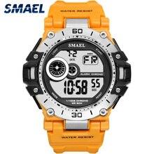 SMAEL cyfrowy zegarek moda męska Sport zegarki wodoodporny 5Bar chronograf zegar analogowy zegarek z alarmem reloj hombre 1548