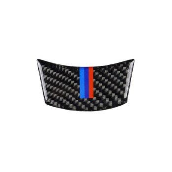 1pcs Car Styling Carbon Fiber Steering Wheel Sticker M stripe Emblem 3D Car Sticker For Bmw E60 E61 04-10 5 series Accessories
