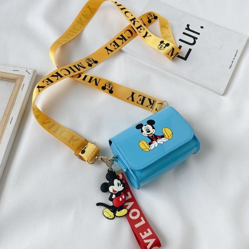 Disney 2021 New Cute Cartoon Mickey Coin Purse Children's Bag Diagonal Bag Western Fashionable Princess Bag
