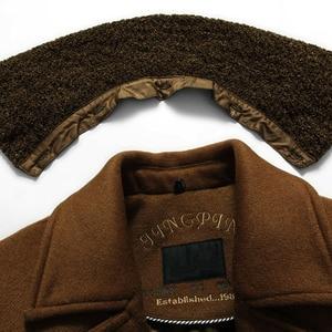 Image 4 - באיכות גבוהה חדש חורף צמר מעיל Slim Fit מעילי Mens מזדמן חם הלבשה עליונה מעיל גברים אפונה מעיל גודל M 4XL