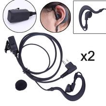 2 pièces micro 2 broches PTT écouteur casque pour Motorola CB Radio CP88 CP040 CP100 pour Motorola XTN XV AX série Radio