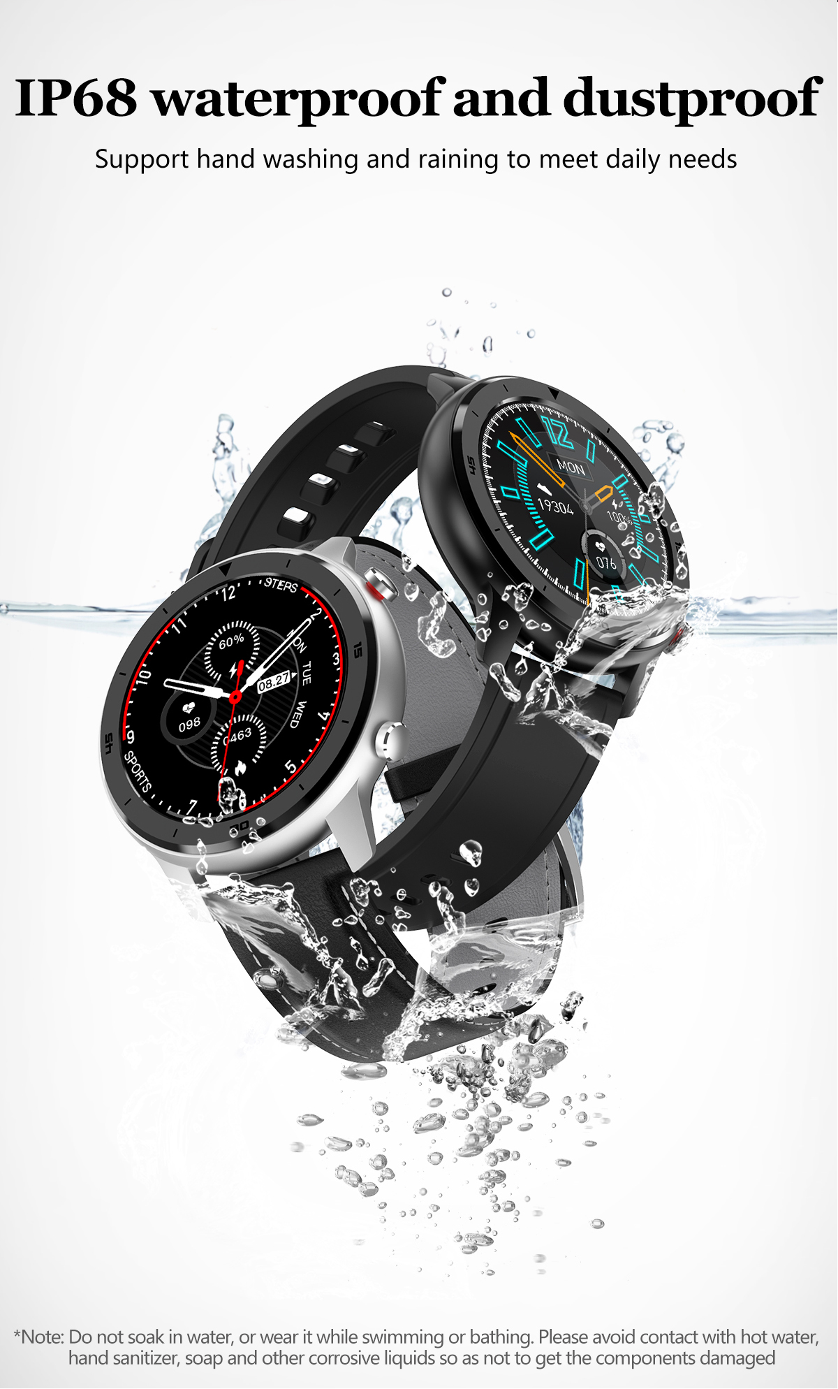 waterproof smart watches for men